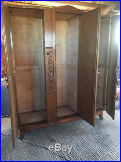 1940 50s French Gentlemans Large Armoire / Wardrobe / Linen Press / Stack