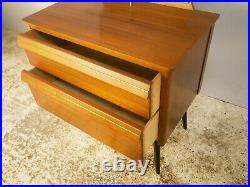 1960s French mid century chest of drawers with mirror