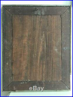 19thC Antique French Frameless Venetian Mirror c. 1850 Original Back 47x38cm m211