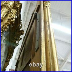 19thC Gilt Gesso French Pier Mirror 10 Ft Tall x 6 Ft Wide Ex ALJOHARA Item