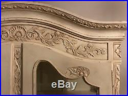 19th Century French Antique Armoire White Painted