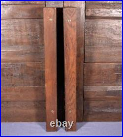 27 Pair of French Antique Walnut Wood Posts/Pillars/Columns with Backings