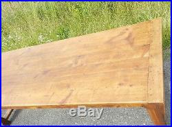 2,5M large french antique oak farmhouse dining table