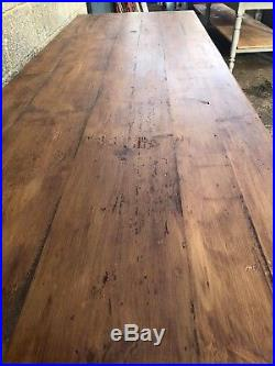 2.5m Long, French Antique Table, Kitchen Island, Vintage