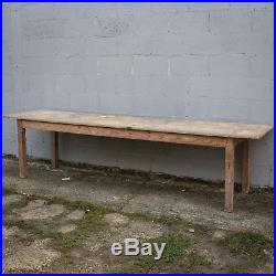 3m Long, French Antique Table, Kitchen Island, Vintage, 2 PLANK, Rare, Pine