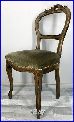 4 Dining Chairs French Louis XV Carved