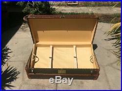 ANTIQUE FRENCH GOYARD WARDROBE STEAMER TRUNK LV louis vuitton Cabin purse bag