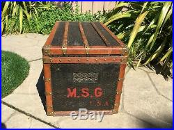 ANTIQUE FRENCH signed GOYARD WARDROBE STEAMER TRUNK LV louis vuitton