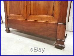 ANTIQUE VINTAGE FRENCH WALNUT HALL CUPBOARD WARDROBE ARMOIRE free delivery