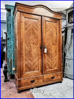 A Beautiful 19th Century French Walnut Armoire/hanging Cupboard