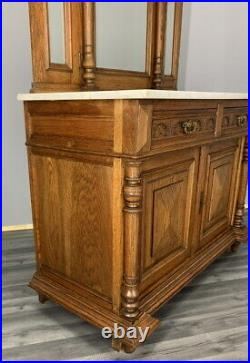 Amazing French Carved Dressing Table/ Wash stand with marble top