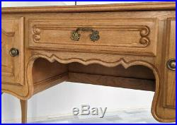 Amazing Oak French Carved Dressing Table Louis XVI