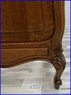 Amazing Rocaille Rare Carved French Antique Double BED