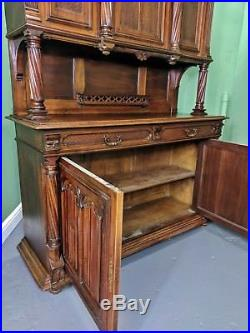 An Antique French Renaissance Revival Mahogany Dresser Sideboard Delivery Avai