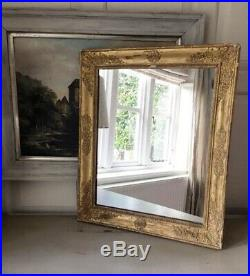 Antique 1830's French Wood and Gilt Gesso Mirror