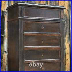 Antique 19th Century Drop Front Secretaire Bank of Drawers French Desk Office
