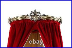 Antique 19th Century French Chateau Rococo Gilt Bed Canopy or Corona