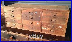 Antique Bank Of Drawers French College Science Cabinet Draws Haberdashery