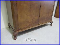 Antique Design Burr Walnut Double Wardrobe Queen Anne Leg French Wardrobe
