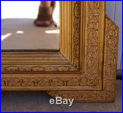 Antique French 19th Gilt Over Mantle Mirror