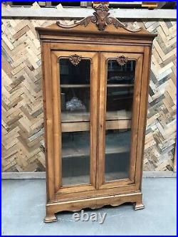 Antique French 20th Century Armoire Wardrobe Shelving Cupboard