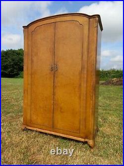 Antique French Armoire Double Wardrobe Maple Boudoir Bedroom Vintage Compactum