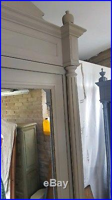 Antique French Armoire, Single Mirrored Door
