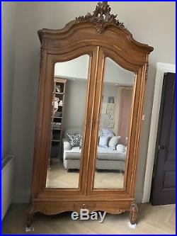 Antique French Armoire / Wardrobe Hanging Depth