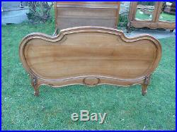 Antique French Bed. Rococo Louis XV Style. Double Bed. Bed Frame. Original