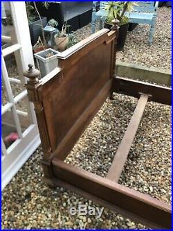 Antique French Carved Oak Bed