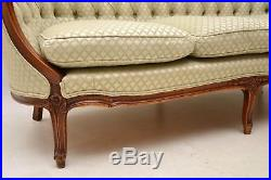 Antique French Carved Walnut Sofa