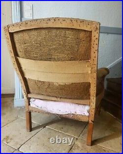 Antique French Chair, 19th Century Deconstructed Armchair