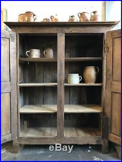 Antique French Country Farmhouse Linen Larder Cupboard