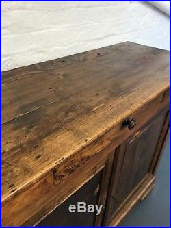 Antique French Country Farmhouse Sideboard Cupboard