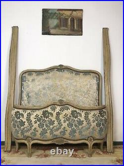 Antique French Demi Corbeille Single Bed Frame