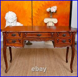 Antique French Desk Walnut Writing Table Vintage