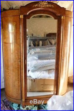 Antique French Empire Burr Walnut double bedroom suite
