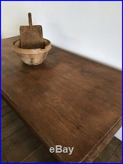 Antique French Farmhouse Oak Kitchen Dining Table