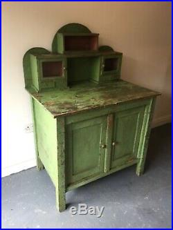 Antique French Farmhouse Painted Pine Sideboard / Dresser / Bathroom Cabinet