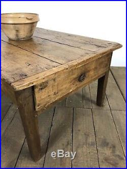 Antique French Farmhouse Rustic Coffee Table