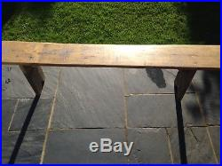 Antique French Farmhouse Solid Wood Bench