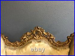 Antique French Gilt Carved Chair Restoration / Re-upholstery Project