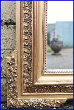 Antique French Gilt Overmantel Mirror