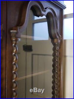 Antique French Glazed Armoire Display Cabinet Hall Cupboard Linen Dresser Larder