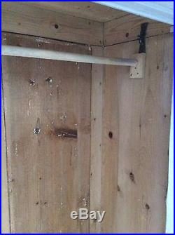 Antique French Gustavian Style Painted Grey Wardrobe Solid Pine Hall Cupboard