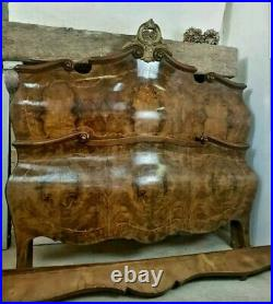 Antique French, Italian Rococo Bombe Bedroom Set RARE