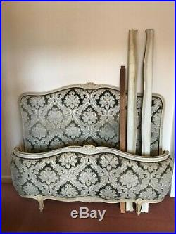 Antique French Lit Capitonne double bed frame