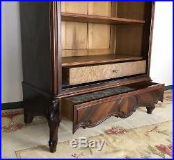 Antique French Louis Style Bedroom Suite Armoire Bed Frame & Cabinet