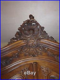 Antique French Louis VIII, Rococo double wardrobe