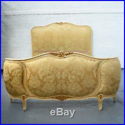 Antique French Louis XV style painted shabby chic Corbeille / Basket bed